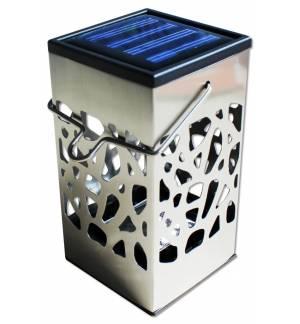 PowerPlus Ferret Ηλιακό Φωτάκι κεράκι Αυτόματο LED 3 σε 1 από ανοξείδωτο χάλυβα