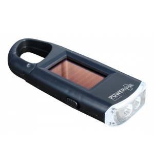 PowerPlus VIPER Ηλιακός Φακός με 2 Lifetime LED & Carabina κλιπ
