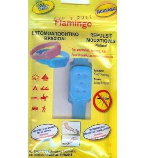 Insect Repellent Bracelet Flamingo against Gnats Mosquitoes etc lasts 15 days