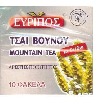 Τσάι Βουνού Εύριπος 10 φάκελα με Στέβια Φυσικό Ελληνικό Προϊόν Άριστης Ποιότητος