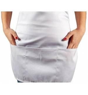 Ποδιά Σερβιτόρας με 3 τσέπες ρυθμιζόμενη Λευκή & Μαύρη 1 μέγεθος