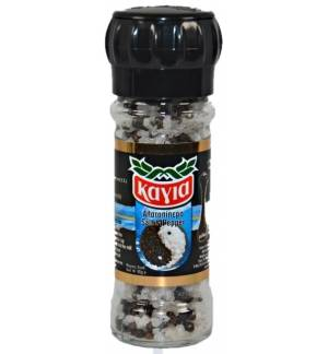 Mill Salt & Pepper Whole Not trimmed in a glass jar mill 95gr Kagia 3.35oz Spice Spices