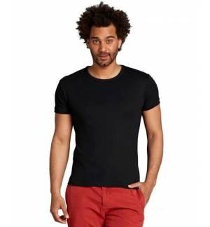 Sol's City Μαύρο 11230 Ανδρικό T-shirt εφαρμοστό 100% βαμβάκι ringspun σεμί πενιέ
