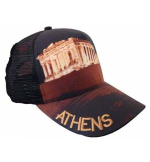 Mesh Souvenir Καπέλο Athens Αθήνα Πεντάφυλλο τζόκεϊ 100% Πολυέστερ