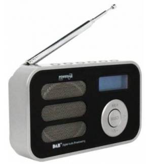 PowerPlus Stork - Solar USB Portable DAB+/FM Radio with Alarm