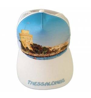 Mesh Souvenir Καπέλο Thessaloniki Θεσσαλονίκη Πεντάφυλλο τζόκεϊ 100% Πολυέστερ