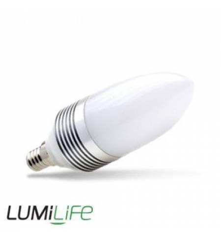 Lumilife 3W E14 LED κερί Θερμό Λευκό 200LM 240v DIMMABLE