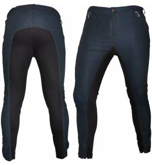 BLUE BLACK DRESSAGE & HORSE RIDING PANTS FULL SEAT BREECHES
