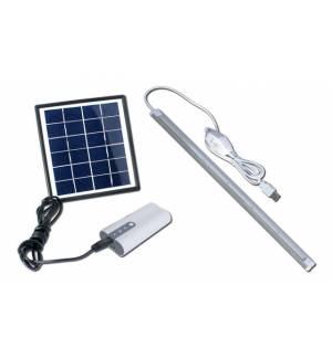 PowerPlus Dove Ηλιακό σύστημα φωτισμού 2W Πάνελ, 36 LED ταινία USB 1W / 5W & Powerbank 4000 mAh
