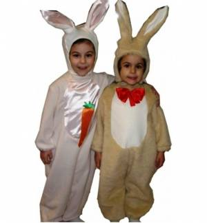 Christmas Halloween Costume kids CA28017 bunny Rabbit 0-6 years