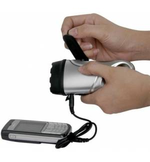 Powerplus Dolpin Επαναφορτιζόμενος Φακός Φορτιστής Micro USB με δυναμό