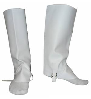 Greek Traditional Costume Accessory boots Leggings Covers White MARK689