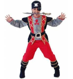 Carnival Halloween Costume kids Pirate 2-10-12 years Old MARK532