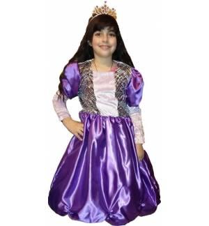 Αποκριάτικη Καρναβαλική Στολή Μωβ Πριγκίπισσα  2-12 ετών MARK693