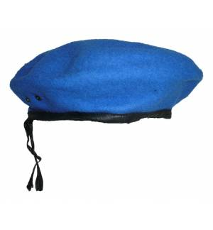 Military Berets Sky Blue Beret Royal Blue Adjustable cord Stock MARK697