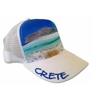 Mesh Souvenir Καπέλο Crete Κρήτη Πεντάφυλλο τζόκεϊ 100% Πολυέστερ