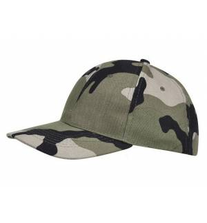 Sol's Buffalo camo 88100 Εξάφυλλο καπέλο τζόκεϊ παραλλαγής 100% βαμβάκι πίσω κούμπωμα
