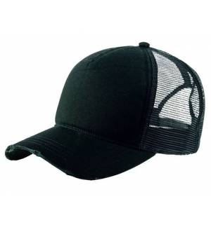 Atlantis 865 Rapper Destroyed hat jockey with dichty100% Polyester