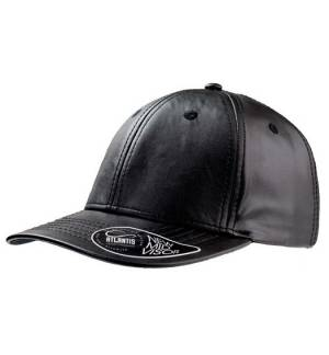 Atlantis 879 Lewis 6 panel jockey hat 100% pu leather