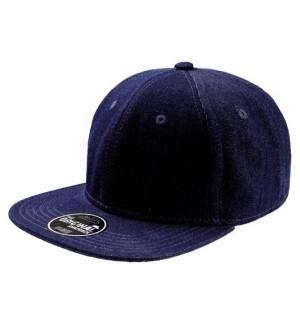 Atlantis 876 Snap Denim Εξάφυλλο καπέλο τζόκεϊ 100% ΒΑΜΒΑΚΙ