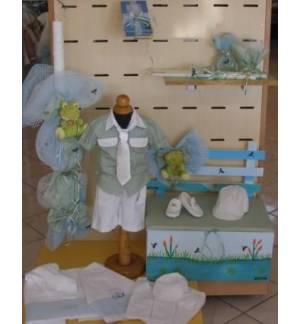 MARK681 Σετ Πακέτο Βάπτισης Αγόρι - Βατραχάκι