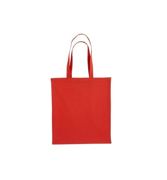 UBAG Cancun Τσάντα αγοράς 42x38cm 100% βαμβάκι με μακριά χερούλια - RED 7d980350a97
