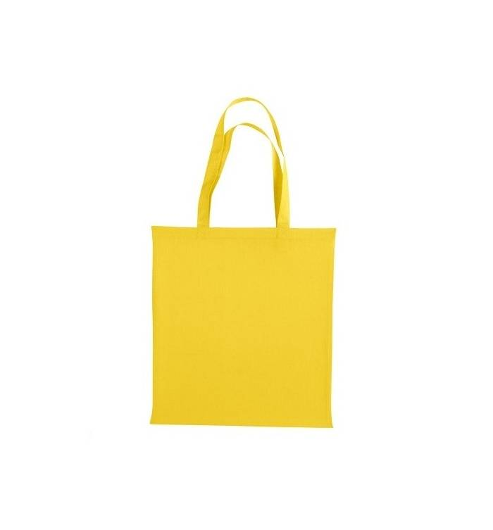 UBAG Cancun Τσάντα αγοράς 42x38cm 100% βαμβάκι με μακριά χερούλια - YELLOW 47d19e18d40