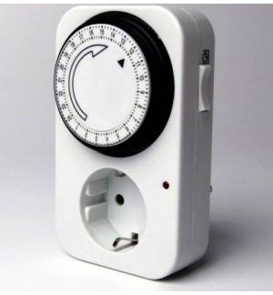 24 HOUR MECHANICAL TIMER SWITCH ADJUSTABLE PER Min QUARTER Energ