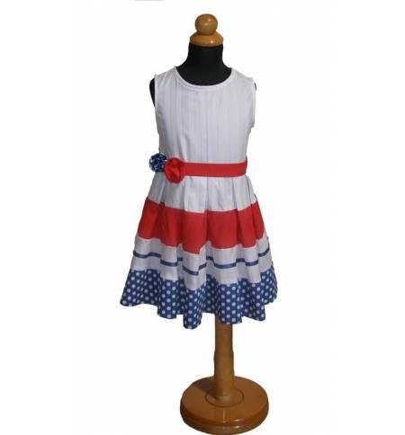 Φόρεμα τρίχρωμο 100% βαμβακερό 1-12 ετών MARK707