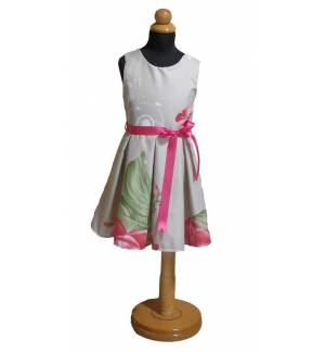 Flower dress with 1-12 year old flowers MARK706