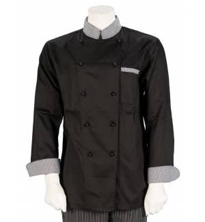 Ζακέτα chef μακρυμάνικη από καπαρντίνα με τσεπάκι στο μανίκι και στο στήθος