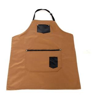 Leather apron with leather detailing from caprinda 240gr 65/35, 85x65cm MARK718