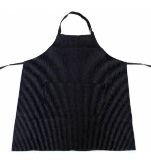 Black Jeans Apron with stripes and one pocket 85x65cm MARK720