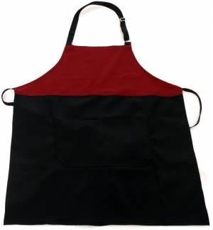 Ποδιά δίχρωμη μπορντό μαύρη από καπαρντίνα 240γρ 85x65cm MARK721 65p/35c