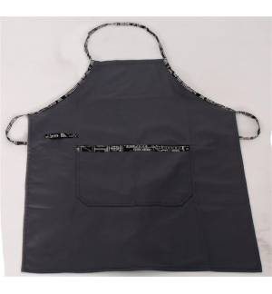 Grey gray with Dressed Details apron 240gr 65p / 35c 85x65cm MARK725