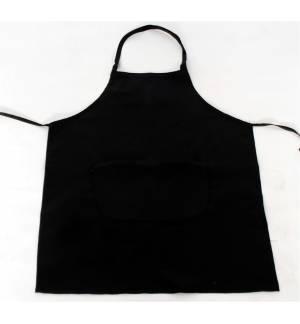 Black apron with one pocket 240gr 65p / 35c 85x65cm MARK727