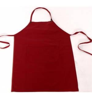 Bordeaux apron with one pocket 240gr 65p / 35c 85x65cm MARK728