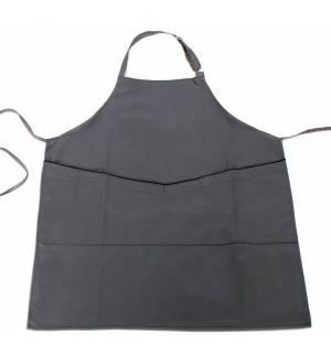 Ποδιά γκρι με μαύρο φυτίλι στην τσέπη από καπαρντίνα 240γρ 85x65cm MARK729 65p/35c