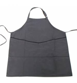 Grey Gray Apron with black ending at the pocket 240gr 65p / 35c 85x65cm MARK729