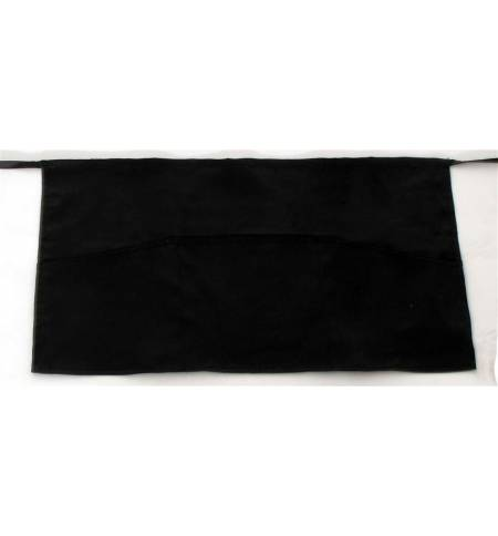Ποδιά μέσης μαύρη με μία τσέπη από καπαρντίνα 240γρ 35x60cm MARK735 65p/35c