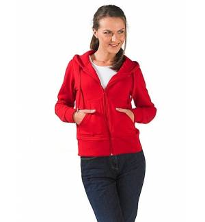 WOMEN'S HOODED ZIPPED JACKET FLEECE Coat SOL'S SUCCESS 48000 TRE