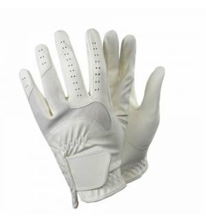 Λευκά Γάντια Ιππασίας με διπλή προστασία στα δάχτυλα 1 κ 3