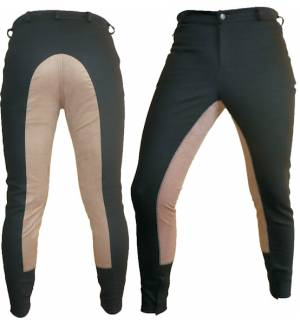 Brown Synthetic Leather Dressage & Horse Riding Pants Full Seat