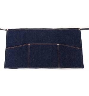 Μπλε Ποδιά μέσης τζιν με τριπλή τσέπη 35x60cm με τσέπες MARK742