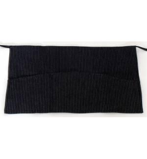 Ποδιά μέσης τζιν ριγέ με τριπλή τσέπη 35x60cm με τσέπες MARK743
