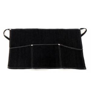 Μαύρη Ποδιά μέσης τζιν με τριπλή τσέπη 35x60cm με τσέπες MARK744