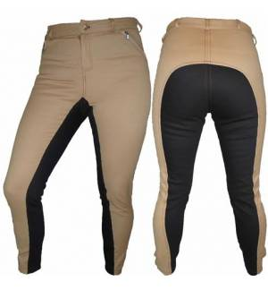 Beige with brown Dressage & Horse Riding Pants Full Seat Breeches