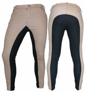 Somon with blue Dressage & Horse Riding Pants Full Seat Breeches