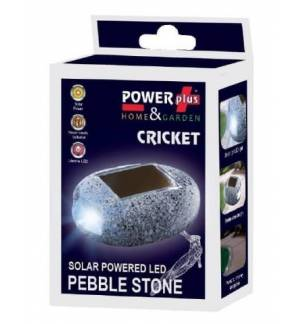POWERplus Cricket Solar Powered LED PEBBLE STONE