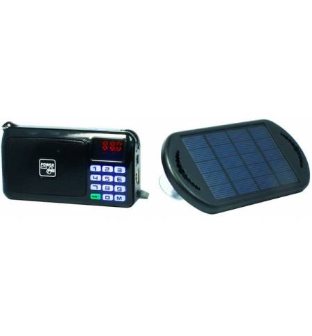 POWERplus Crow Solar USB FM Radio MP3 Player LED flashlight